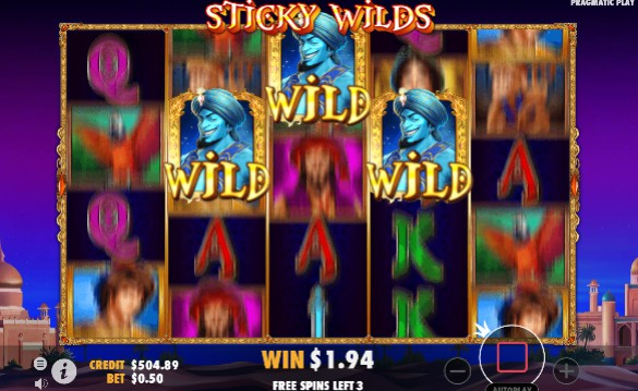 3 Genie Wishes mobile slot
