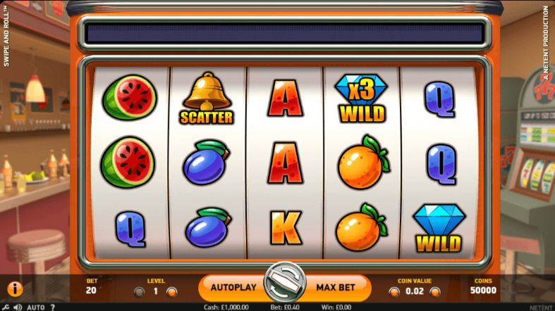 Swipe & Roll mobile slot